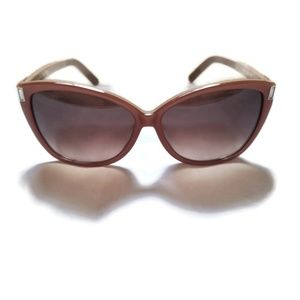 Chóle Peach & Nude Oversized Gradient Sunglasses